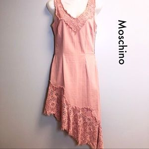 Moschino Salmon Denim Maxi Dress 8